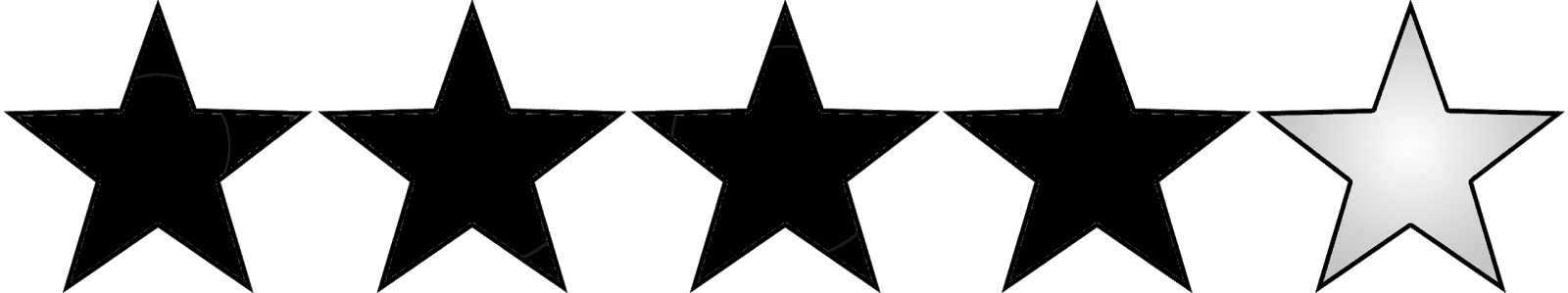 Five star rating clipart picture library stock Black Sticky Stars picture library stock