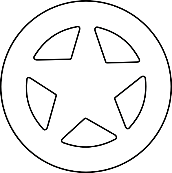 Slanted star clipart black and white picture freeuse Sherriff Clip Art at Clker.com - vector clip art online, royalty ... picture freeuse