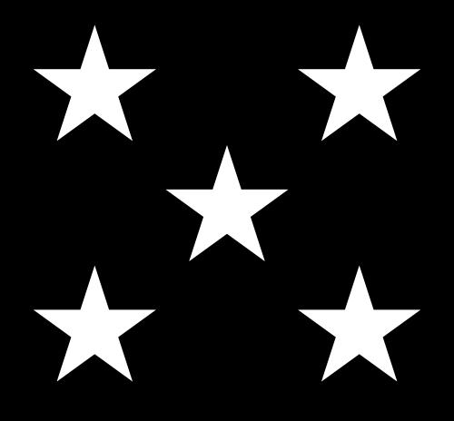 5 stars clipart black