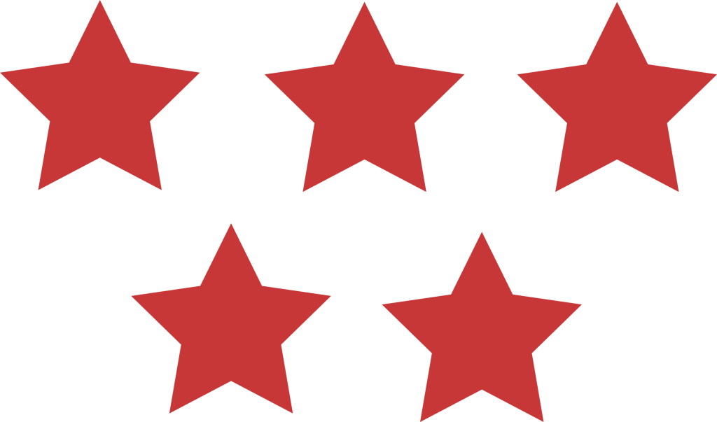 5 in a star clipart clip art library Same color 5 Stars   Daily Cliparts clip art library