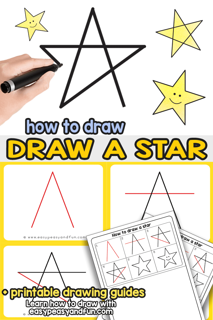 5 step method clipart clip transparent download How to Draw a Star - Step by Step Drawing Tutorial for the Easiest 5 ... clip transparent download