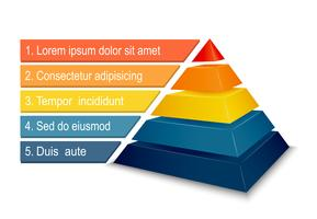 5 tier pyramid clipart