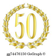 50 anniversary free clipart clip 50Th Anniversary Clip Art - Royalty Free - GoGraph clip