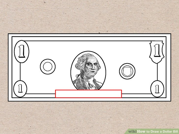 50 bill clipart drawing black and white stock How to Draw a Dollar Bill: 7 Steps (with Pictures) - wikiHow black and white stock