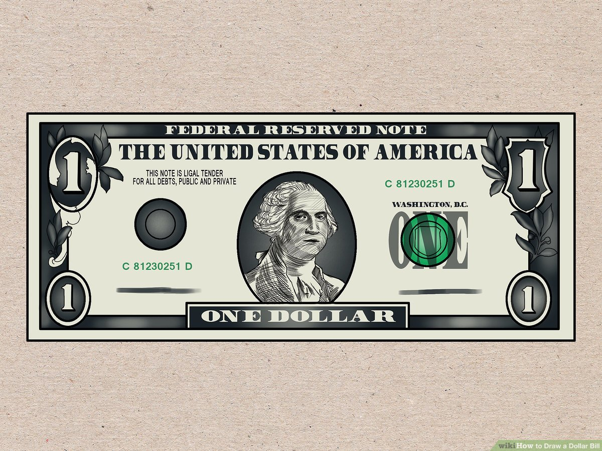 50 bill clipart drawing picture free stock How to Draw a Dollar Bill: 7 Steps (with Pictures) - wikiHow picture free stock