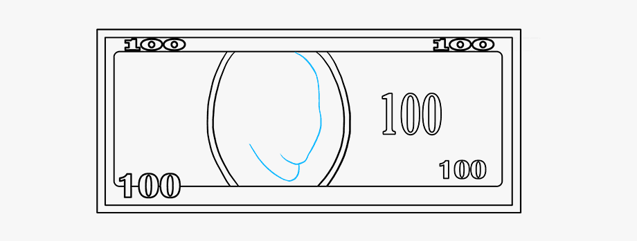 50 bill clipart drawing svg free stock How To Draw Dollar Bill - 100 Dollar Bill Drawing Easy #1020460 ... svg free stock