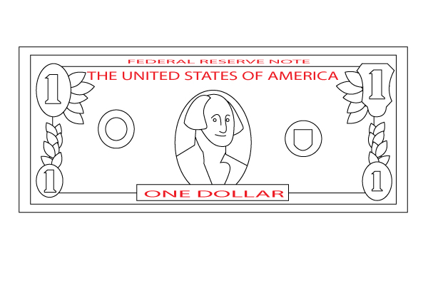 50 bill clipart drawing graphic How to Draw a Dollar Bill: 7 Steps (with Pictures) - wikiHow graphic