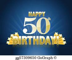 Free clipart happy 50th birthday clip library download 50Th Birthday Clip Art - Royalty Free - GoGraph clip library download