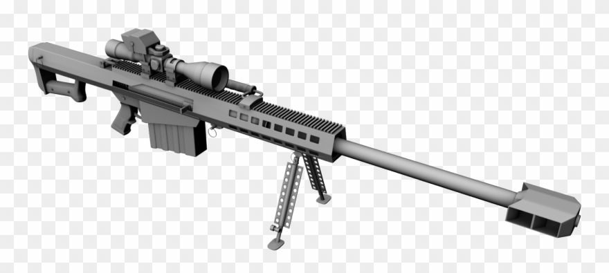 50 cal clipart vector free library Transparent Rifle 50 Cal Sniper - Barrett M95 .50 Cal Clipart ... vector free library