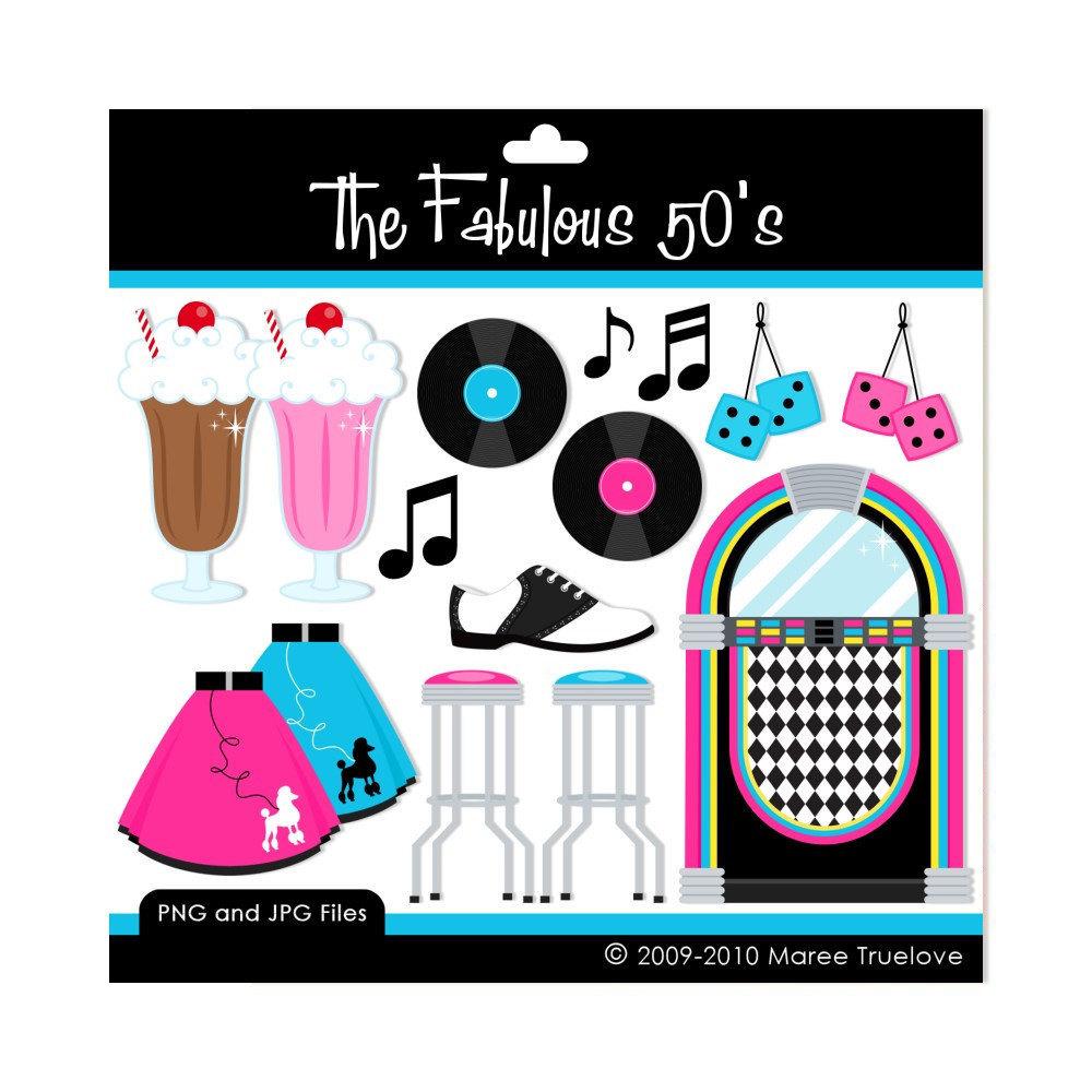 50 s clipart clip transparent Fabulous 50's Clip Art | Clip art, Graphics and Shops clip transparent