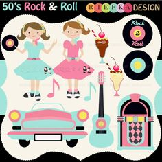 50 s clipart free Fabulous 50's Clip Art | Clip art, Graphics and Shops free