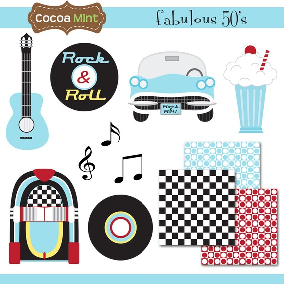 50 s clipart picture library stock 50s Theme Clipart - Clipart Kid picture library stock