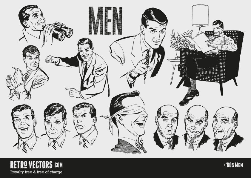 50 s guy clipart free clip art freeuse stock 1960s Men | Vintage Vectors | Vintage Clip Art | Retro Clip Art ... clip art freeuse stock