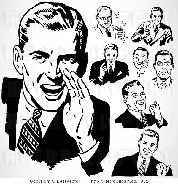 50 s guy clipart free png transparent stock Retro Clipart Free & Free Clip Art Images #32536 - Clipartimage.com png transparent stock