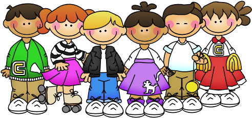 50 s kids clipart graphic black and white Picture Day Clipart School - 50\'s Kids Clipart (507x240 ... graphic black and white