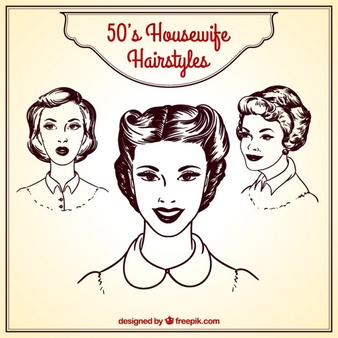 50 s ladies hairstyles clipart clip freeuse stock 50s Vectors, Photos and PSD files | Free Download clip freeuse stock