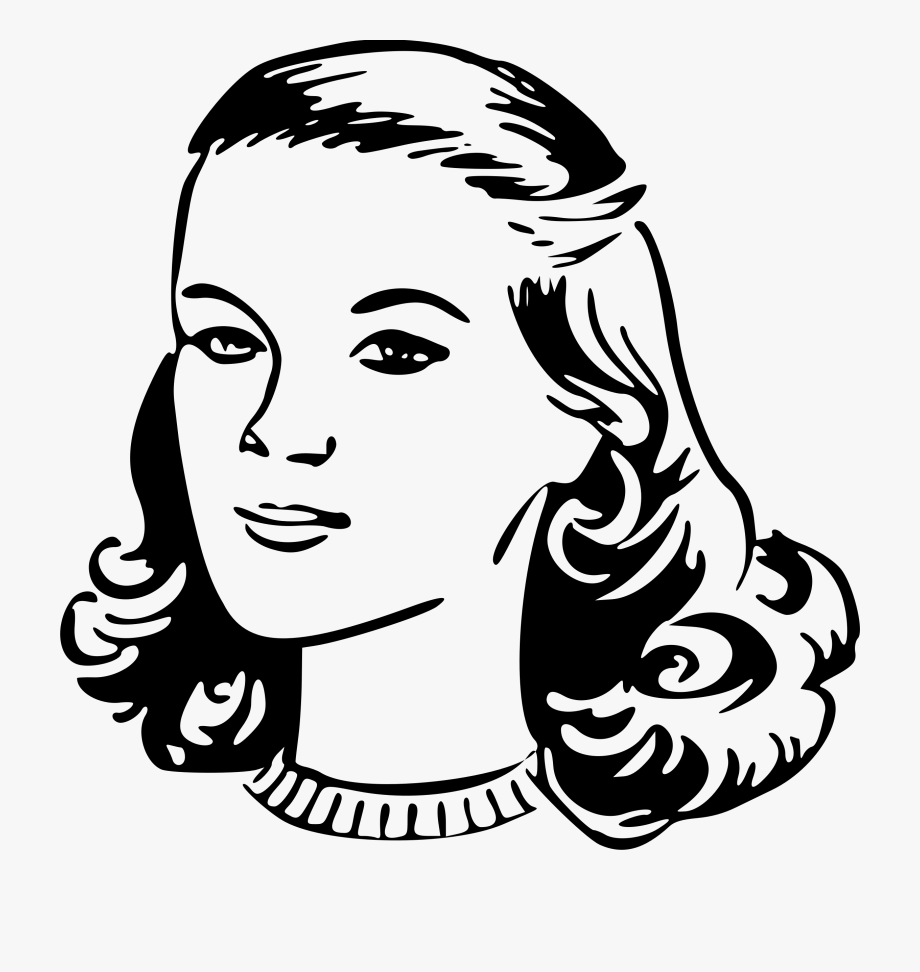 50 s ladies hairstyles clipart clip art black and white library Clipart Freeuse Clipart Woman S Head Big Image Png - Woman Clipart ... clip art black and white library