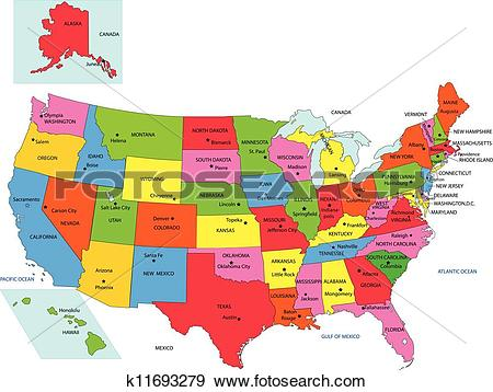 50 states clip art image freeuse library Clip Art of USA 50 States with State Names k11693279 - Search ... image freeuse library
