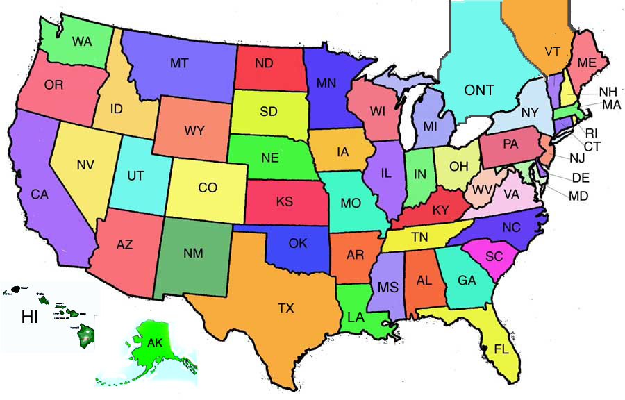 50 states clip art banner royalty free download Us Map Clipart - Clipart Kid banner royalty free download