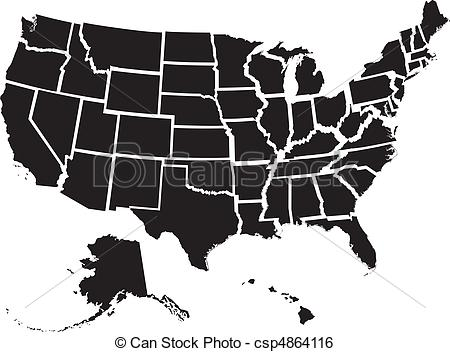 State illustrations and royalty. 50 states clipart
