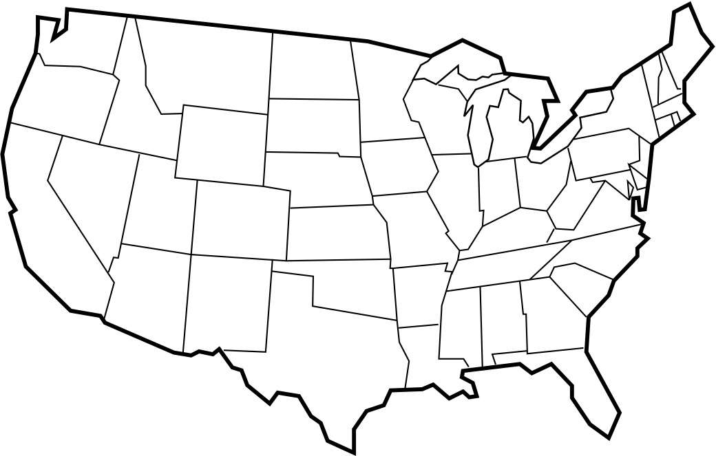 50 states clipart. Clip art usa map