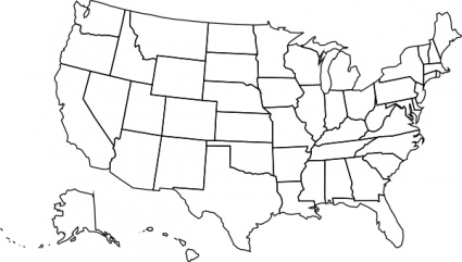 50 states clipart image United states map clipart - ClipartFest image