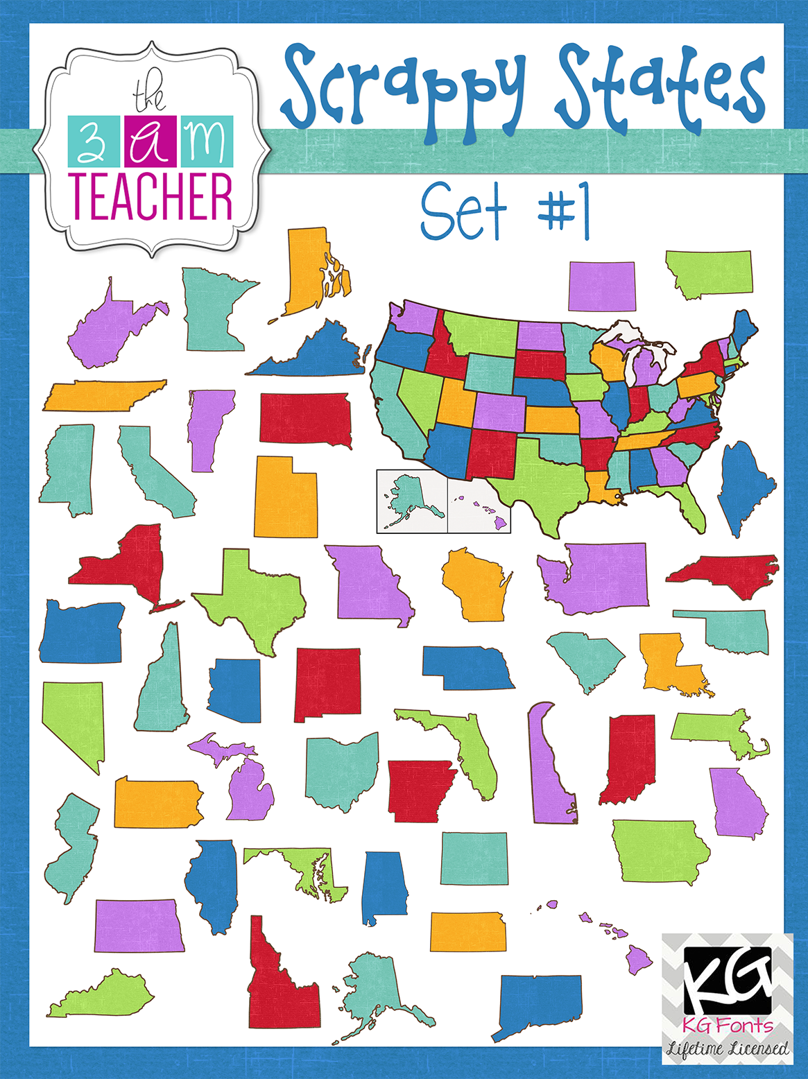 50 states clipart free