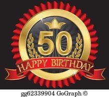 50 years clipart free jpg transparent 50Th Birthday Clip Art - Royalty Free - GoGraph jpg transparent