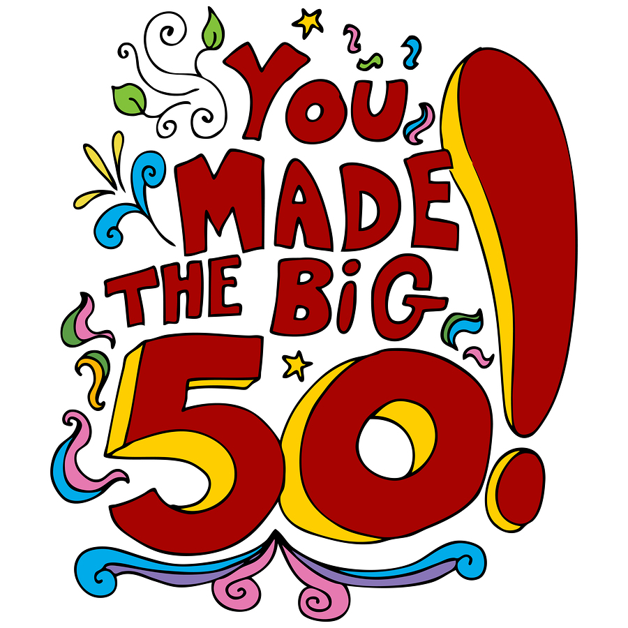 50 years old clipart image library stock Fifty Year Old Birthday Ideas | Life Over 50 image library stock