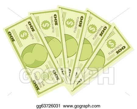 500 dollar clipart graphic transparent download Vector Illustration - 500 dollars. EPS Clipart gg63726031 - GoGraph graphic transparent download