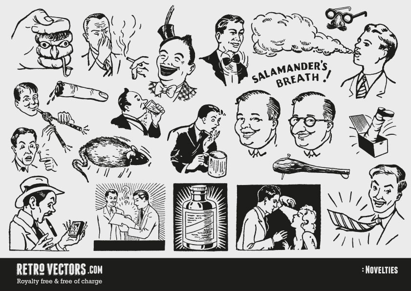 50s vintage designs clipart banner black and white download 50s novelty advert clipart | Vintage Vectors | Royalty Free | Free ... banner black and white download