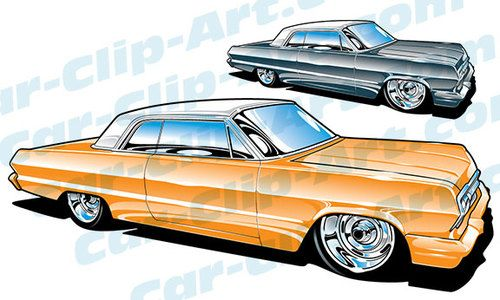50s chevy impala clipart jpg freeuse 1963 Impala Vector Clip Art | Car-Clip-Art.com Designs! | Art cars ... jpg freeuse