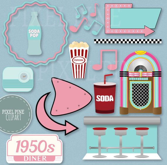 50s diner clipart images banner freeuse library Pin by Marion Hope on A Dance in 2019 | Fifties diner, 1950s diner ... banner freeuse library