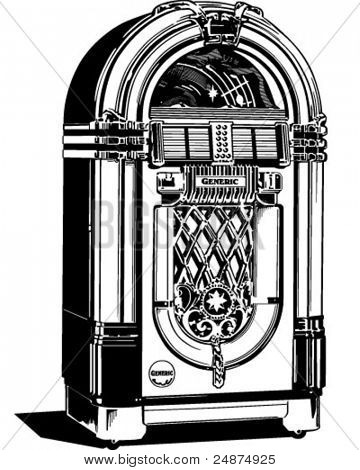 Vintage jukebox clipart - ClipartFest vector library stock