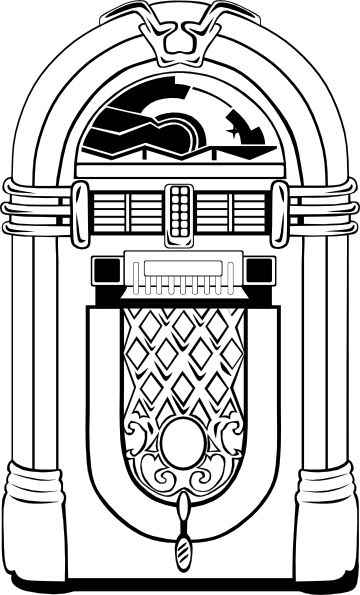 1950s art | Fifties Jukebox 2 clip art - vector clip art online ... jpg library stock