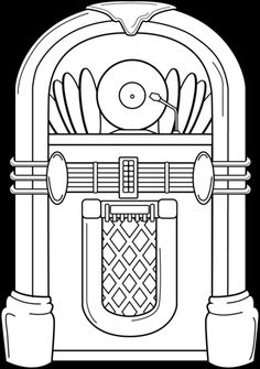 50s jukebox clip art - ClipartFest png transparent