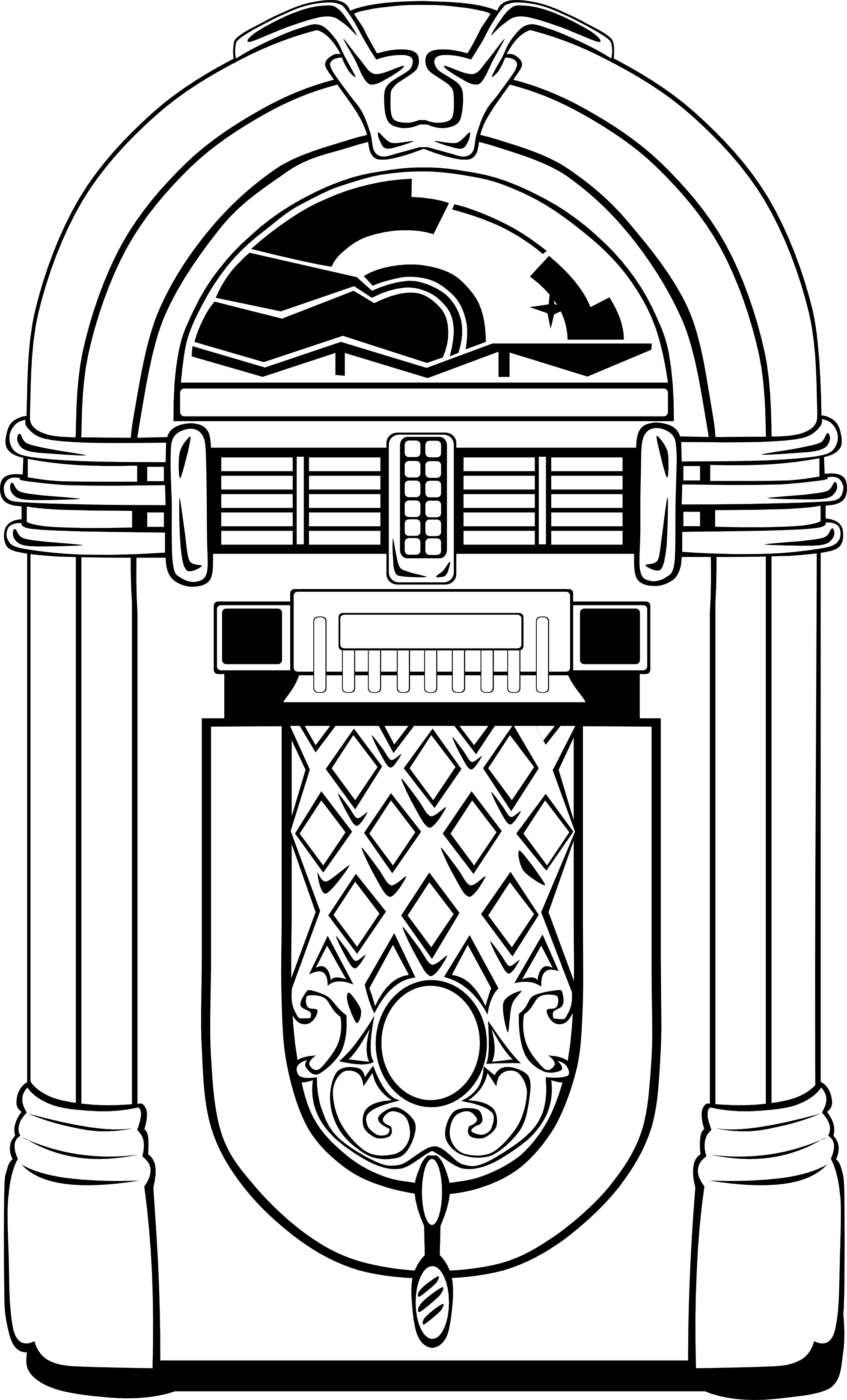 50s jukebox clip art - ClipartFest svg free library