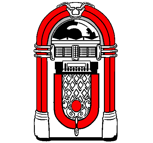 50's jukebox clipart - ClipartFest png black and white