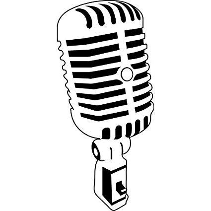 50s microphone clipart png library download Graven Retro 50s Radio Microphone Die-Cut Decal Car Window Wall ... png library download