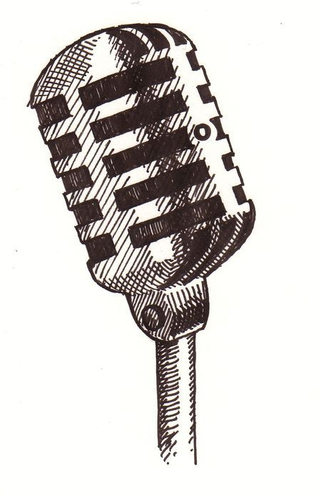 50s microphone clipart png 50\'s microphone graphic | Fun with Art! in 2019 | Microphone drawing ... png