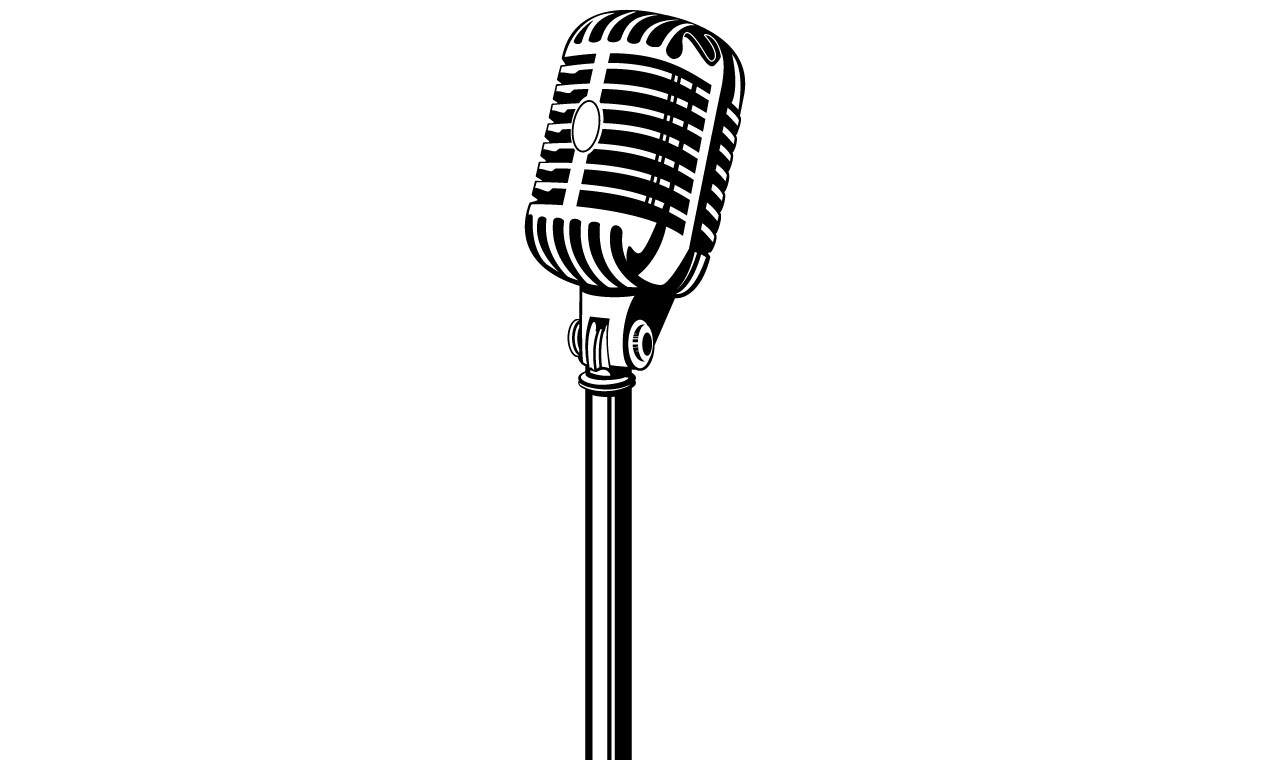 50s microphone clipart clipart black and white Microphone Black And White | Free download best Microphone Black And ... clipart black and white