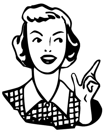 Black and white woman clipart jpg black and white stock Free Happy Fifties Cliparts, Download Free Clip Art, Free Clip Art ... jpg black and white stock