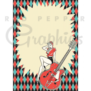 50s rockabilly music clipart image black and white Red Pepper Retro | Vintage style graphics » Rockabilly Event Poster ... image black and white