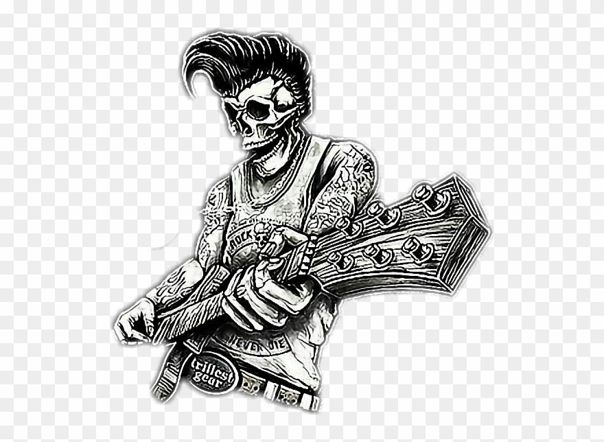 50s rockabilly music clipart clipart free Rock Rockabilly Rockmusic Rock And Roll Oldskull Skullr Clipart ... clipart free