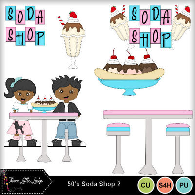 50-s soda shop clipart png black and white download Clip Art | 50s Soda Shop 2-(TLL) | Boys, Friends, Girls, Memories ... png black and white download