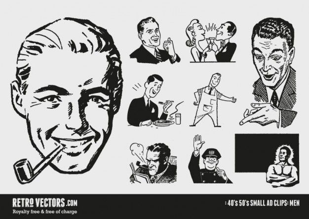 50s vintage designs clipart graphic royalty free 50s Small ad Clipart | Graphic Devices | Retro illustration, Vector ... graphic royalty free