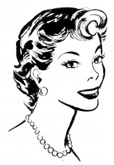 50s woman clipart graphic black and white library 50s woman clipart 2 » Clipart Portal graphic black and white library