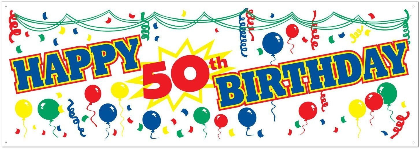 50th birthday banner clipart clipart royalty free Happy 50th Birthday Banners clipart royalty free