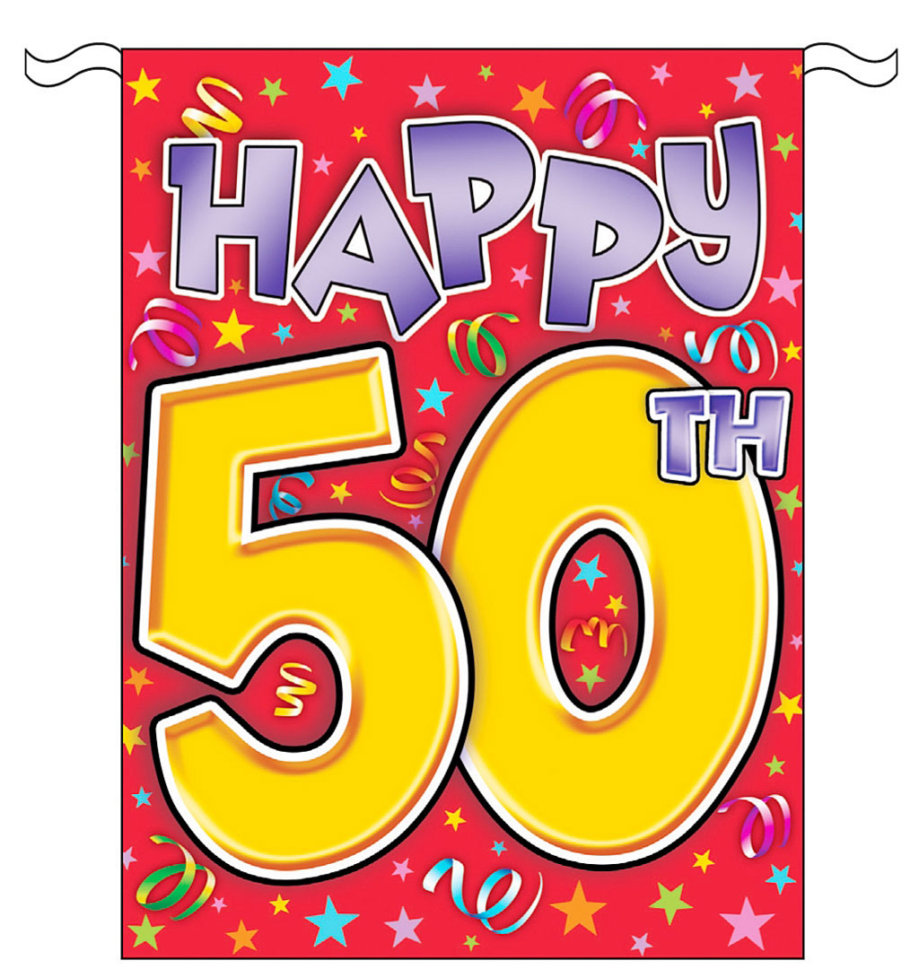 50th birthday banner clipart graphic library library Free Fiftieth Birthday Cliparts, Download Free Clip Art, Free Clip ... graphic library library