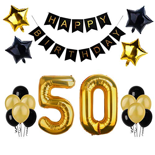 50th birthday banner clipart graphic library stock 50th Balloons and Banners: Amazon.co.uk graphic library stock